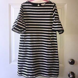 CrewCuts striped dress with zipper pockets